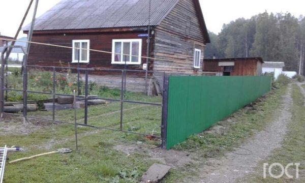 Забор из профнастила в Томске