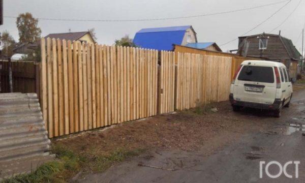 Деревянный забор Томск